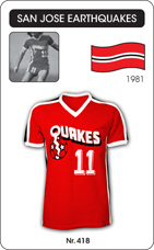 Maillot San Jose Earthquakes 1981